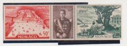 Monaco Scott # 360-362a Strip Of Three MLH FIPEX Early Louisiana Prince Rainier III Palace Of Monaco Catalogue $19.00 - Unused Stamps
