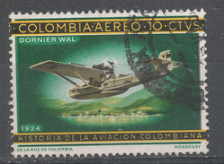 Colombia 1966. Scott #C472 (U) History Of Colombian Aviation.Dormier Wal 1924 * - Colombie
