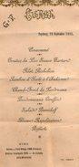 VP5943 - Menu De 1905 - Vtesse Louis De FONTENAY - Puycheny à CHAMPEAUX ET LA CHAPELLE POMMIER - Menus