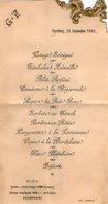 VP5944 - Menu De 1905 - Vtesse Louis De FONTENAY - Puycheny à CHAMPEAUX ET LA CHAPELLE POMMIER - Menus