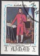 "635 Ajman 1970 ""...Napoleone Bonaparte..."" Quadro Dipinto Da J.A.D. Ingres Preoblit. Neoclassicismo Painting Imperf."