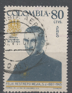 Colombia 1967. Scott #C486 (U) Father Felix Restrepo Mejia S.J. (1887-1965), Theologian Scholar * - Colombie