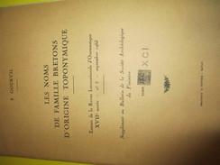 Fascicule / Les Noms De Famille Bretons D'origine Toponymique / F Gourvil/ Finistére/ 1965      LIV82 - Boeken, Tijdschriften, Stripverhalen