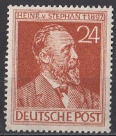 578 Germania 1947 Heinrich Von Stephan Co-fondatore UPU Germany Nuovo MNH Deutschepost - [7] Federal Republic