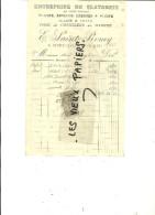 54 - Meurthe-et-moselle - XIVRY-CIRCOURT - Facture ST-REMY - Plâtrerie – 1909 - REF 46B - 1900 – 1949