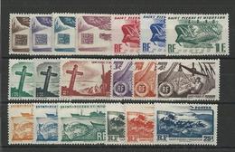 SPM - YVERT N°325/343 * / MH CHARNIERE LEGERE - COTE = 50 EURO - - St.Pierre & Miquelon