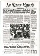 AVILES ASTURIAS TARJETA PREFRANQUEADA TARIFA A ENTERO POSTAL LA NUEVA ESPAÑA PRENSA PERIODICO INDURAIN
