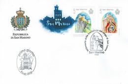 FDC SAN MARINO MILLÉNAIRE DU RELOCALISATION CORPS Le Pape Léon XIII - Papas