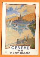 GGE472, Repro Office Du Tourisme De Genève, 1908, 1228,Bateau, Mont-Blanc, GF, Circulée - GE Genève