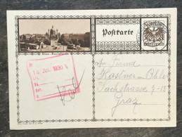 A17 Österreich Austria Autriche Ganzsache Stationery Entier Postal Mi. P 278b Wien Karlskirche