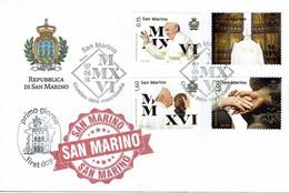 FDC SAN MARINO JUBILÉ DE MISERICORDE POPE FRANCISCO - Papas