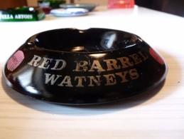 Cendrier - RED BARREL WATNEYS- Noir , Rond , Diamètre 14cm , Ht: 2,5 Cm, Céramique Ivorex - Cendriers