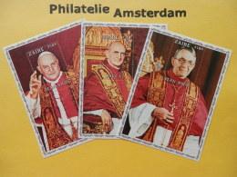 Zaïre 1979, POPES JOHN XXIII, PAUL VI, JOHN PAUL I: Mi 605-07, Bl. 25-27, ** - Pausen