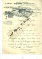 55 - Meuse - COUSANCELLES - Facture Sté DES TUILERIES ET BRIQUETERIES – 1917 - REF 46B - 1900 – 1949