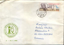 Czechoslovakia - Chess - Letter With 10-a Esperanto Sakfestivalo - Ceske Budejovice 1980