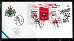 FDC SAN MARINO  JOURNÉE INTERNATIONALE DE JAZZ - Música