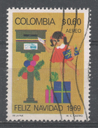 Colombia 1969. Scott #C523 (U) Christmas, Child Mailing Letter * - Colombie