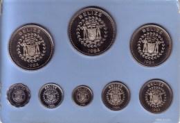 BELIZE - Proof Set 1984 FM - KM#PS21 Including KM# 75, 90, 91, 92, 93, 94, 95, 96 [Eight Rare Types] - Belize