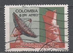 Colombia 1970. Scott #C526 (U) Radar Station And Pre-Columbian Head * - Colombie