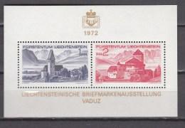 Liechtenstein 1972,2V In Block,briefmarkenausstellung Vaduz,MNH/Postfris(L2797)