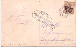 Belgique OC 11 Sur Carte Postale Melreux 1918- Censure De Marche - WW I