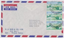 Western Samoa I Sisifo - Air Mail Cover Apia - Enveloppe - Plane Airport Stamp - Timbre Avion Aéroport - Flughafen - Samoa