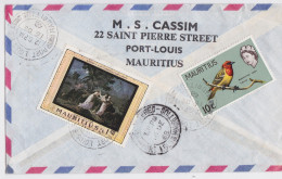 ÎLE MAURICE - MAURITIUS - Registered Air Mail Cover Cassim Port Louis Eastern - Enveloppe Timbrée 1968 - Timbre - Stamp - Maurice (...-1967)