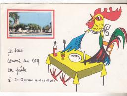 18 Saint Germain Des Bois - Je Suis Comme Un Coq En Pate. Carte Fantaisie Avec Vue Darée 1967. Tb état. - France