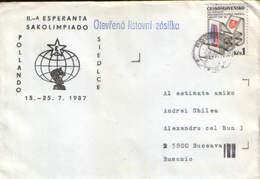 Czechoslovakia - Chess - Esperanto - Esperanta Sakolimliado Pollando Siedlce 1987