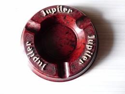 CENDRIER -   JUPILER -  Brun Bordeaux,  Rond, Diamètre 12 Cm, Ht: 2,5 Cm, Plastique PMB - Cendriers