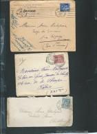 Lot De 6 Lettres ( Certaines Avec Leur =correspondances ) Periode Classique Et Semi Moderne) Daw01 - Marcofilie (Brieven)