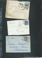 Lot De 6 Lettres ( Certaines Avec Leur =correspondances ) Periode Classique Et Semi Moderne) Daw05 - Marcofilie (Brieven)