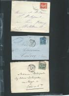 Lot De 6 Lettres ( Certaines Avec Leur =correspondances ) Periode Classique Et Semi Moderne) Daw06 - Marcofilie (Brieven)