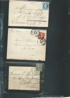 Lot De 6 Lettres ( Certaines Avec Leur =correspondances ) Periode Classique Et Semi Moderne) Daw08 - Marcofilie (Brieven)