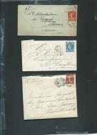 Lot De 6 Lettres ( Certaines Avec Leur =correspondances ) Periode Classique Et Semi Moderne) Daw10 - Postmark Collection (Covers)