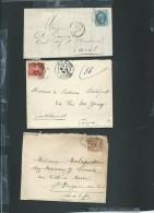 Lot De 6 Lettres ( Certaines Avec Leur =correspondances ) Periode Classique Et Semi Moderne) Daw11 - Marcofilie (Brieven)