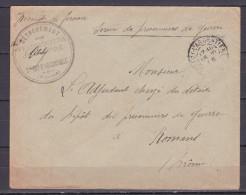 LETTRE DE PRISONNIER DE GUERRE DE   ROMANS DETACHEMENT  ST FOY L ARGENTIERE - Marcophilie (Lettres)