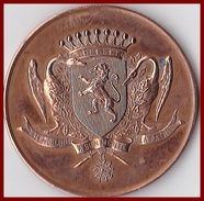 RARE Valenciennes Médaille Exposant 10ème Foire Exposition 1959 Nord France Bronze 33 G France TBE - Professionnels / De Société
