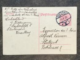 A17 Österreich Austria Autriche Ganzsache Stationery Entier Postal Mi. P 259 Von Lustenau Nach Stuttgart