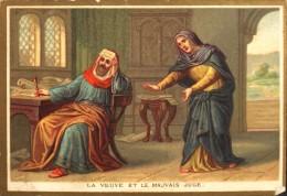 MAISON De La BONNE PRESSE - IMAGE RELIGIEUSE ANCIENNE - N° 70 La Veuve Et Le Mauvais Juge - BE - Santini