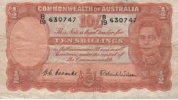 (B0244) AUSTRALIA, 1952 (ND). 10 Shillings. P-25d. VG - 1938-52