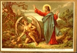 MAISON De La BONNE PRESSE - IMAGE RELIGIEUSE ANCIENNE - N° 29 Jésus Dans Le Désert Les Pierres - TBE - Devotion Images