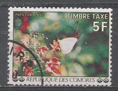 Comoro Islands 1977. Scott #J8 (U) White Butterfly * - Comores (1975-...)
