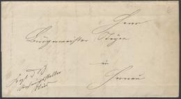 B898 Brief Hessen 1869 Portofreie Dienstsache Königstein Taunus Nach Hornau Rechnung Bürgermeister