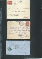 Lot De 6 Lettres ( Certaines Avec Leur =correspondances ) Periode Classique Et Semi Moderne) Daw14 - Marcofilie (Brieven)