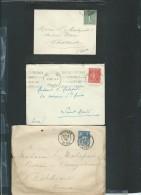 Lot De 6 Lettres ( Certaines Avec Leur =correspondances ) Periode Classique Et Semi Moderne) Daw15 - Postmark Collection (Covers)