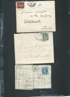Lot De 6 Lettres ( Certaines Avec Leur =correspondances ) Periode Classique Et Semi Moderne) Daw16 - Marcofilie (Brieven)