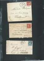 Lot De 6 Lettres ( Certaines Avec Leur =correspondances ) Periode Classique Et Semi Moderne) Daw18 - Postmark Collection (Covers)