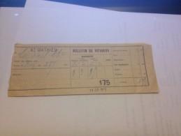 Titre Transport , 1927,  Train , St MATHIEU, LIMOGES, 87, 3 Places - Chemins De Fer