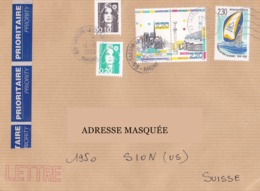 Lettre Voyagée En 1998 Tp  Monuments De Paris, Voile, Mariannes Du Bicentenaire Exc 2462 - France